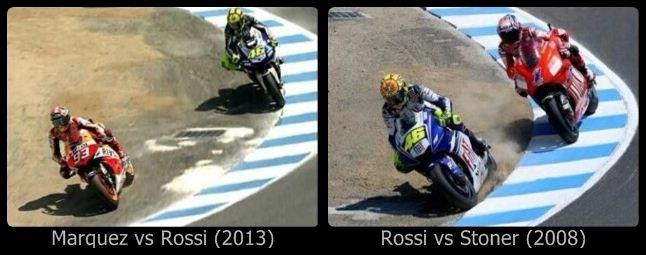 Race Marquez Rossi Stoner in Laguna Seca