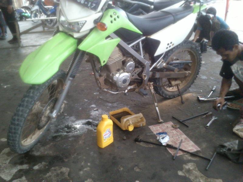 Shell Helix Untuk Motor Kawasaki KLX
