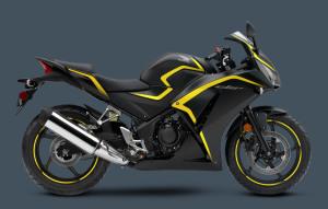 Honda CBR300R 2015 Matte Black Metallic Yellow
