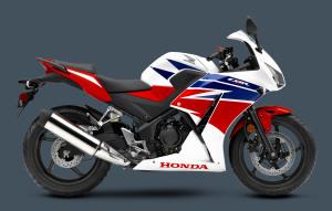 Honda CBR300R 2015 Pearl White Red Blue