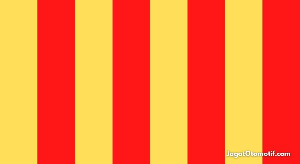 Yellow and Red Striped Flag MotoGP